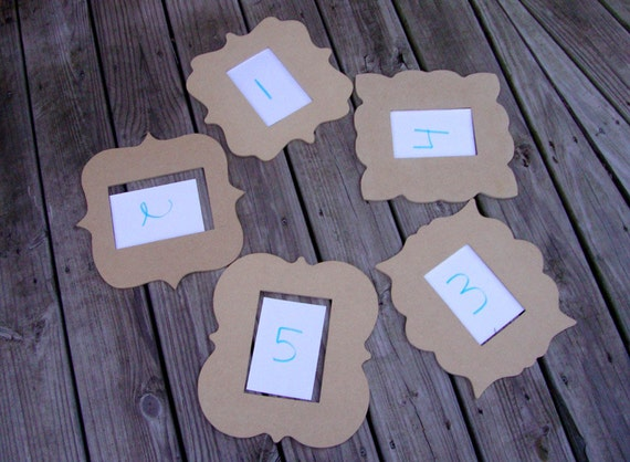 Picture Frames Unfinished Curvy  Mosaic Bases or Paint  Set of Five New Pattern!