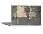 Industrial distressed metal paneling photo image with textured filter print laptop skin sticker cover
