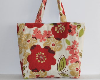 Everyday Tote - Rainforest Green Floral