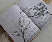 Guest book with content Wooden covers Nature lovers