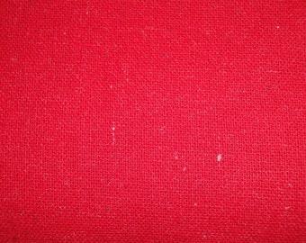 Red Osnaburg Fabric |  Cotton Fabric | Primitive Fabric | Woven Fabric | Rustic Fabric | Country Fabric |   1 Yard