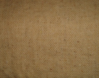 Osnaburg Homespun Cotton Fabric Hand Dyed With Coffee 1 Yard