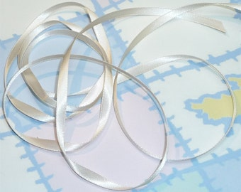 NUDE DouBLe FaCeD SaTiN RiBBoN, Polyester 1/4 inch wide, 5 Yards