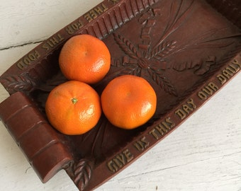 Vintage Burwood Bread Tray - Give Us This Day Our Daily Bread - Lord We Thank Thee For This Food
