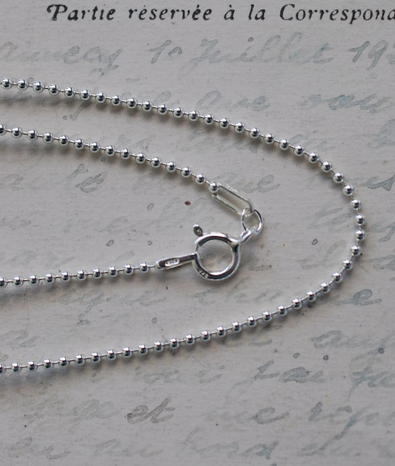 sterling silver bead chain necklace for by suegrayjewelry