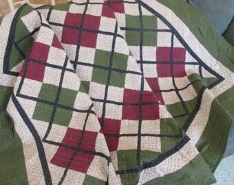 argyle lap or bed quilt -REDUCED