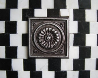 Black and White Marble Mosaic Trivet