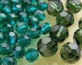 Lot of 114 #5000 Swarovski Crystal Round Beads 4mm 6mm Jewelry Supplies Emerald Turmaline
