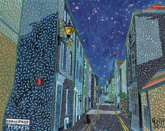 Griffin Street. A Ltd edition, numbered and signed A4 print from a Painting by Richard Friend