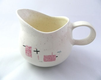 Mid-Century Vernon Tickled Pink Small Pitcher Gravy Syrup