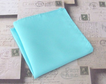 Pocket Square Pool Blue Robin Blue Eggs Blue Hankie Inspired by Alfred Angelo's Blue Box