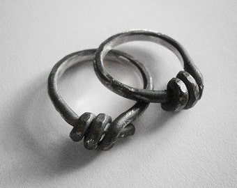 get 50% off - 30 dollars only - enter coupon code PHOENIXSALE at checkout to obtain the reduction - BARBED WIRE ring - sterling silver