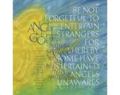 """Angel of God 11"""" x 14"""" print"""