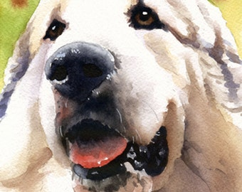 GREAT PYRENEES Art Print Signed by Watercolor Artist DJ Rogers