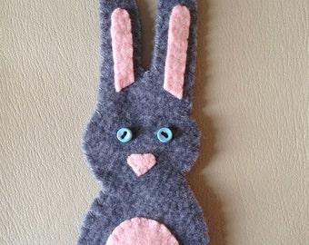 grey bunny felty