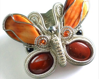 Spiny Oyster Butterfly Pendant - N-0252