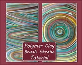 eBook - Polymer Clay Brush Stroke Tutorial step-by-step  (pdf)