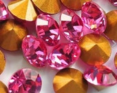36pc Rose pp33 ss18 Swarovski 4mm Chatons Art 1012 Swarovski Rose Art 1012 Rose Brillion Cut Swarovski 4mm Rose Will Fit Well As PP32 Rose