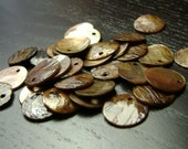CLEARANCE !!! Tan River Shell Round Drops ... 55ct.