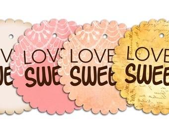 PDF Wedding Favor Tags - Love is Sweet