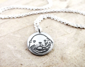 Tiny Sea Lion necklace, marine mammal jewelry, sea lion jewelry, sea life