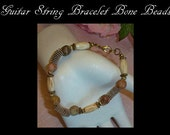 Guitar String Jewelry, Bone Beads