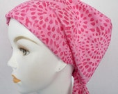 Pink Batik Chemo Scarf Cancer Turban Hat Cotton Bad Hair Day Head Wrap Covering