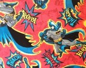 Toddler/Travel Pillowcase: Batman on red background with a black band.
