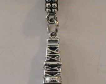 Sterling 3D OIL DERRECK State Bead Charm fits  All Name Brand Add a Bead Charm Bracelets