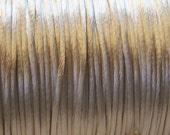 Tan Satin Rattail Cord 1mm 6 yards for Macrame Kumihimo Knotting