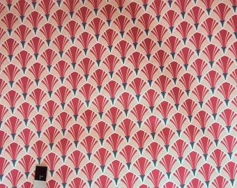 Annette Tatum SAAT001 Classica Scallop Berry Cotton Sateen HOME DECOR Fabric 1 Yard
