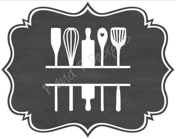 Split Kitchen Utensils Svg Amp Png Instant Download