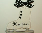 Ice Skate with Your Name -Embroidered Applique-100278