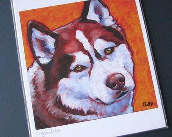 HUSKY Dog 8x10 Signed Art Print from Painting by Lynn Culp