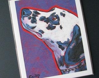 DALMATIAN Dog 8x10 Signed Art Print from Painting by Lynn Culp