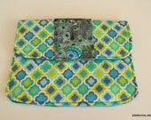 Proudly Peacock Style Clutch Charmante Padded Tablet Cover