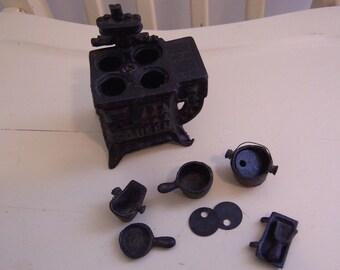 miniature doll house cast iron stove