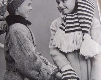 1962 bernat handicrafter knitting book