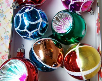 glitter stenciled collectable glass bulbs