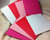 Scrapbook Mats...8 Piece Set of Very Sweet Valentine Themed Embossed Scrapbook Photo Mats or Card Fronts