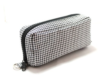 Essential Oil Case Holds 10 Bottles Essential Oil Bag Black and White Houndstooth