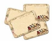 Bird  Recipe Cards, Bride Shower Recipe Cards, Rustic Wedding, Nest Recipe Cards, Wedding Shower Favors, Bridesmaid Gift