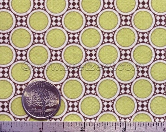Amy Butler DECO DOTS Citrine Citron Yellow Gold Cotton Quilt Fabric - by the Yard - Gypsy Caravan