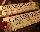 Grandkids Make Life Grand DECAL ONLY 20 x 4.25 one or two colors