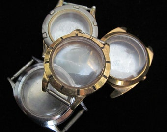 Vintage Antique Steampunk Watch Cases Altered Art Industrial  TV 51
