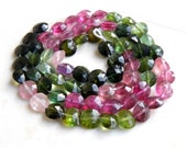 Tourmaline Briolette Gemstone Faceted Coin 6mm 67 beads Full Strand Wholesale