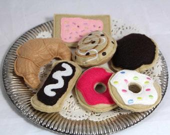 Felt Food Donut Pastry Set 7 Pieces