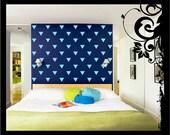 40-80 Vinyl Triangles Wall Decal; Vinyl Decal - Vinyl Wall Art Nursery