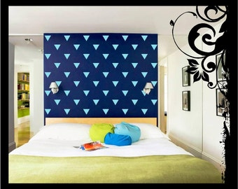 40-80 Vinyl Triangles Wall Decal; Vinyl Decal - Vinyl Wall Art Nursery