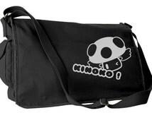 Messenger Bag cute retro bag Mushroom bag Kinoko Japanese bag anime asian laptop bag cute school bag kawaii pastel goth hipster school bag